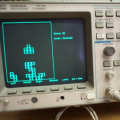 Tetris on an oscilloscope