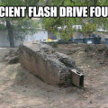Ancient flash drive found