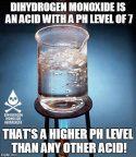 DHMO is an acid of pH 7