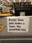 Typos make errorists win