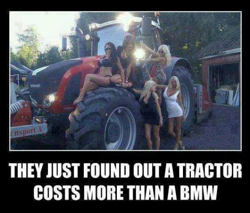Tractor costs more than BMW