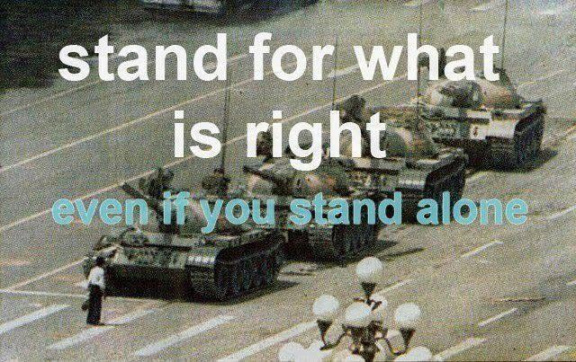 Stand for what is right