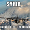 Freeing Syria with bombs