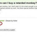 Where can I buy a retarded monkey?