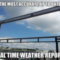 Real-time weather report