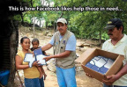 How Facebook likes help the needy