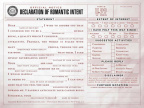 Declaration of romantic interest form