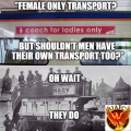 Female only transport: men have some too