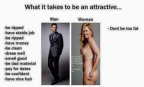 How to be an attractive man vs woman