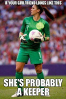 Keeper girlfriend