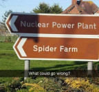Nuclear power plant plus spider farm