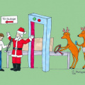 Santa airport security check