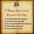 5 things you cant recover in life