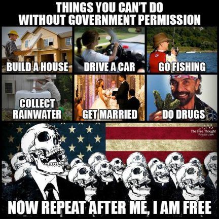 Things you can't do without government permission