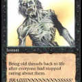 Thread necromancy card