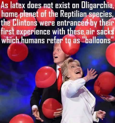 Clintons discovering balloons