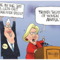 Clinton vs Trump treatment of women