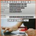 Cheat codes now