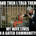 Hillary lives in gated community