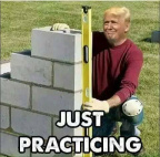 "Trump ""wall practicing"""