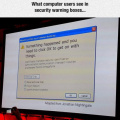 Security warning box for illiterates