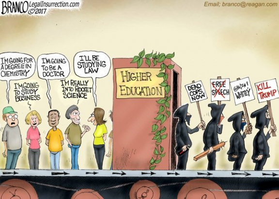 Higher education brainwashing