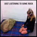 Listening to rock