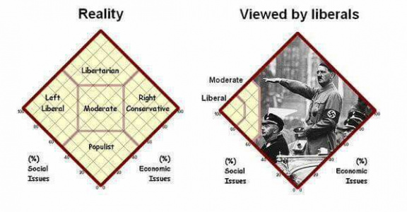 Political groups viewed by liberals