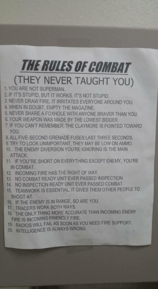 The rules of combat