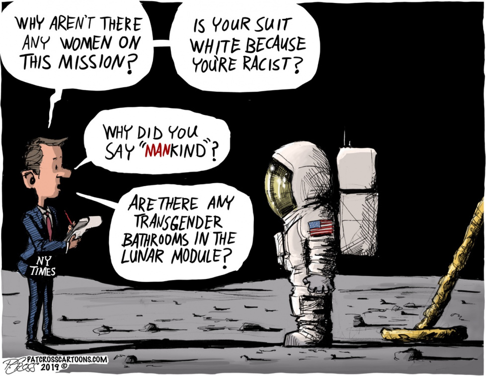 Moon mission, sexist & racist?
