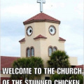 Church of stunned chicken