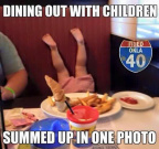 Dining out with children