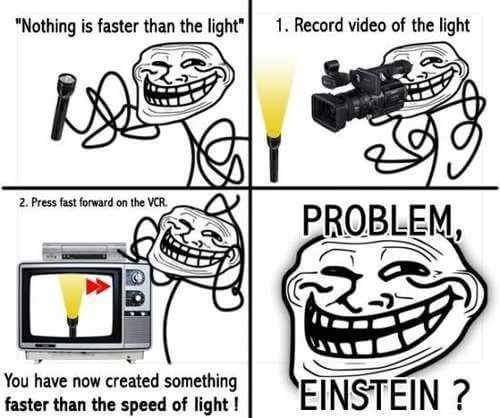 How to create something faster than light