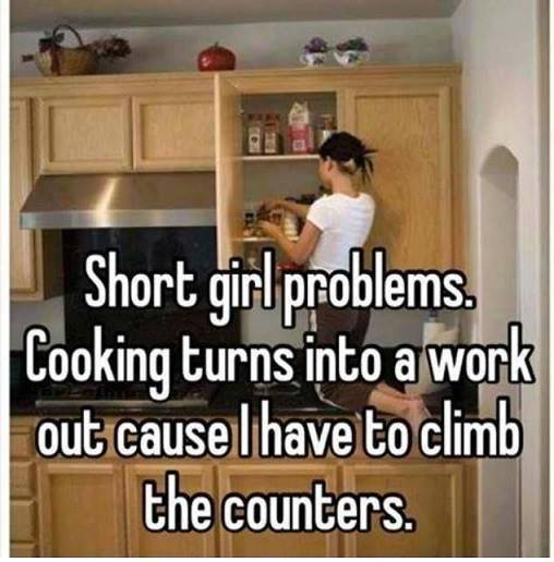 Short girl problem: cooking is a workout