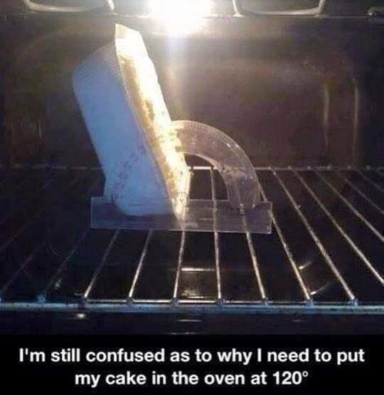 Cake in oven why 120°?