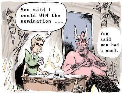 Hillary's pact with the Devil