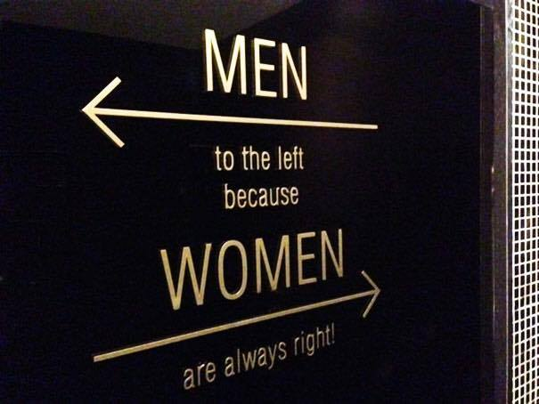 Men to the left...