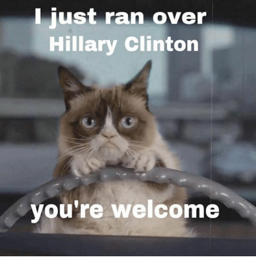 Just ran over Hillary Clinton